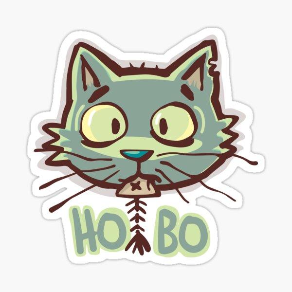 Hobo cat Sticker