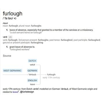 """""""furlough"""" white background by Urhfurlanic"""