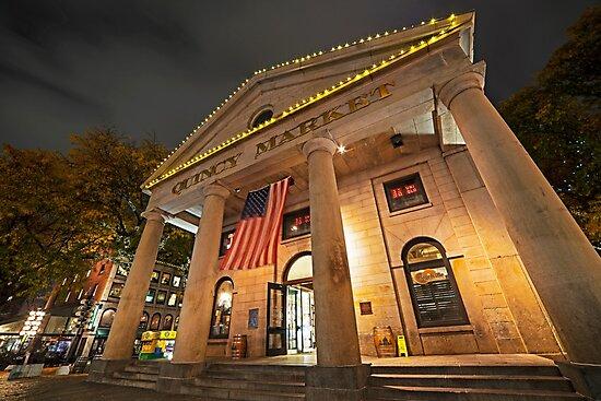 Faneuil Hall Quincy Market Boston MA by WayneOxfordPh