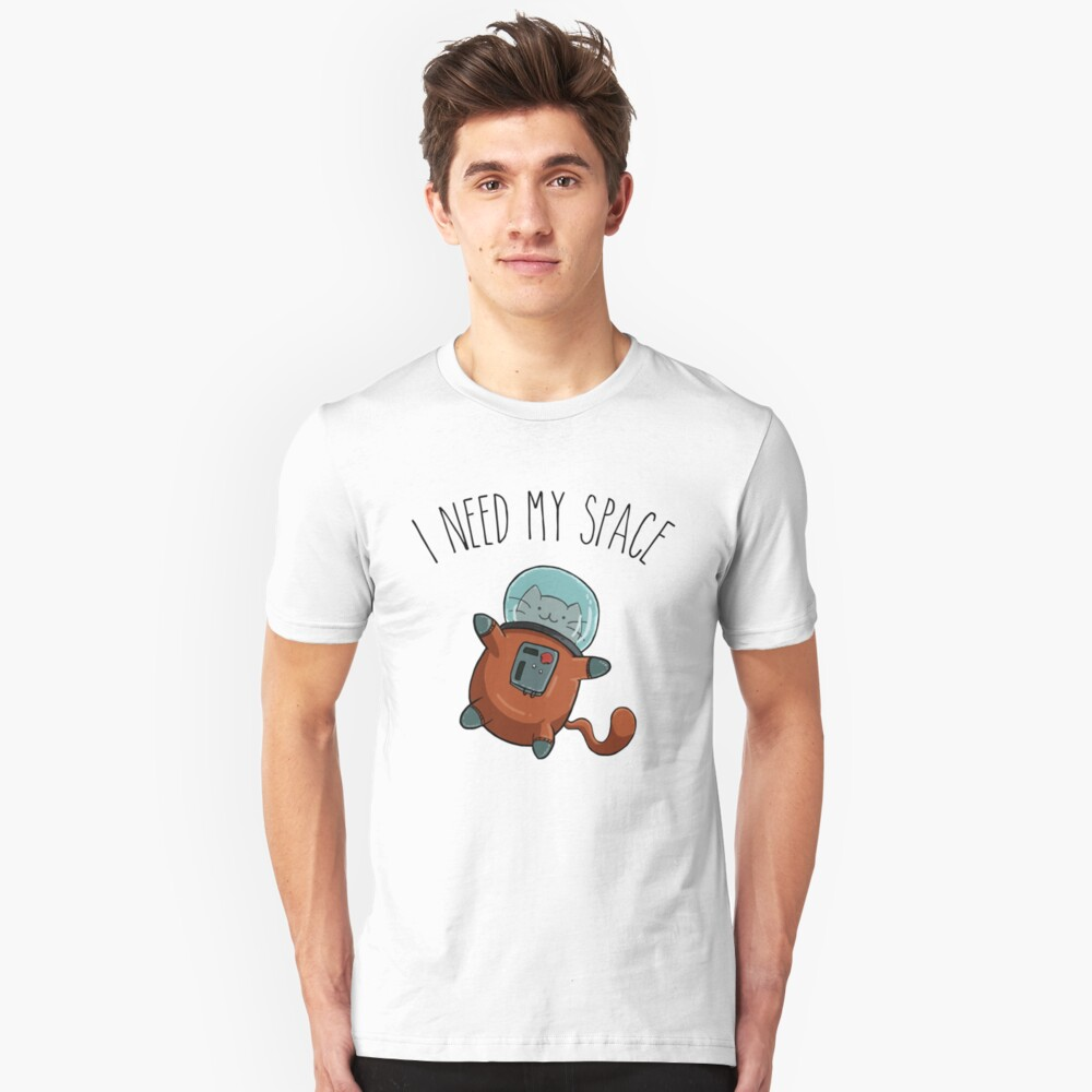 I Need My Space Cat Unisex T-Shirt Front