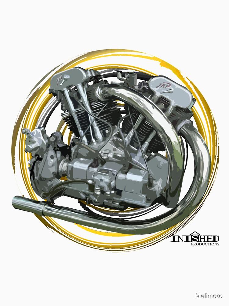 Inished Brough Superior 998cc JTOS J.A.P. 1934 engine art by Melimoto