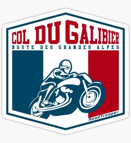 Route des Grandes Alpes France Motorcycle T-Shirt Sticker - Col du Galibier 2 Sticker