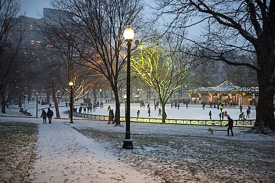 A Christmas Walk through the Boston Common Boston MA by WayneOxfordPh