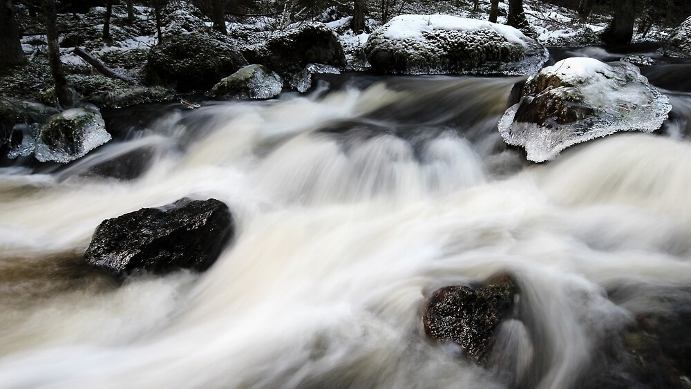 12.1.2018: Myllykoski Rapids at Winter by Petri Volanen