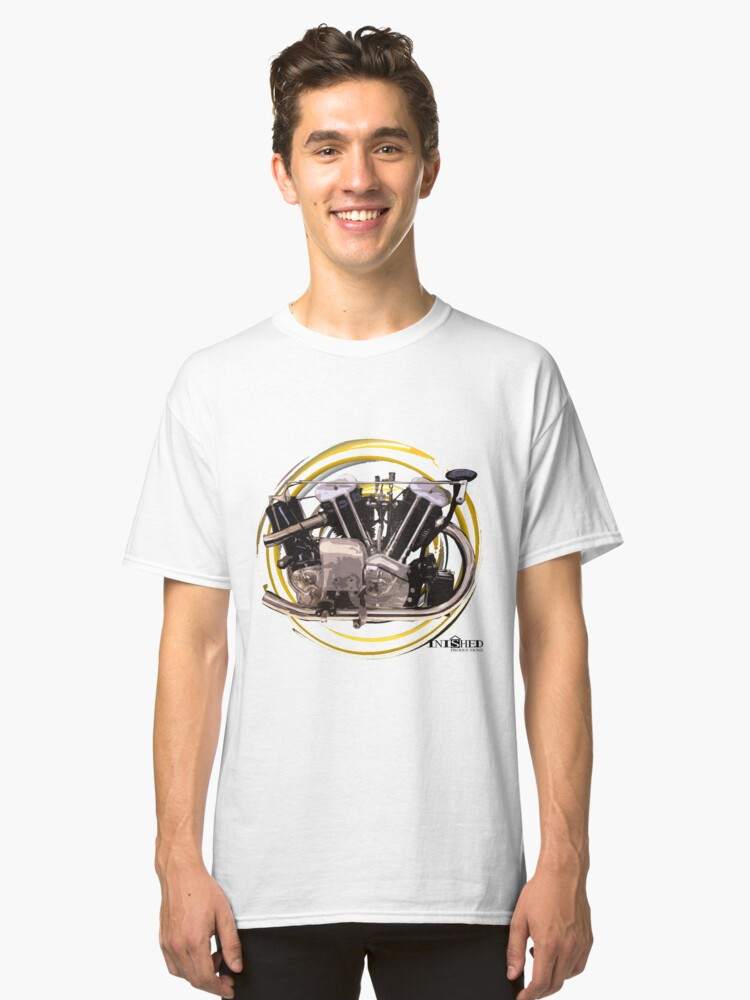 Inished Brough Superior SS100, 1932, 1000cc engine art Classic T-Shirt Front