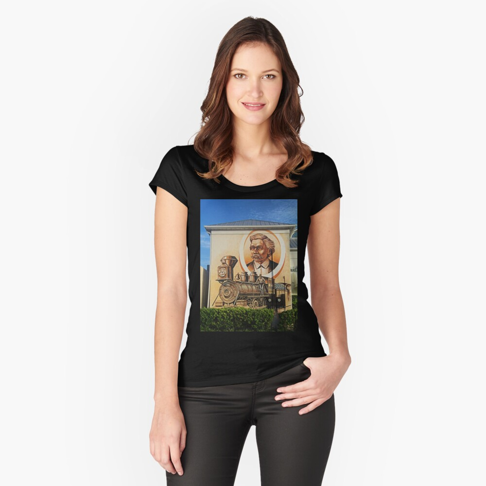 Punta Gorda Mural Women's Fitted Scoop T-Shirt Front