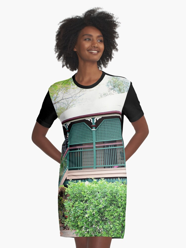 Inner city suburban house - Brisbane Graphic T-Shirt Dress Front