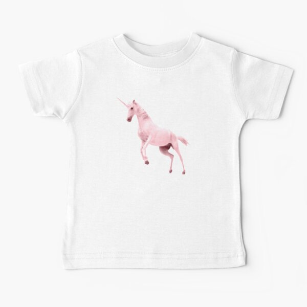 Pink Unicorn by Alice Monber Baby T-Shirt