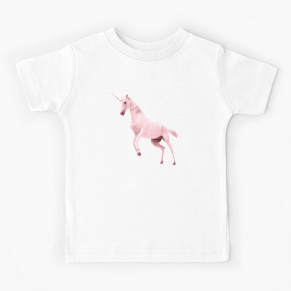 Pink Unicorn by Alice Monber Kids T-Shirt