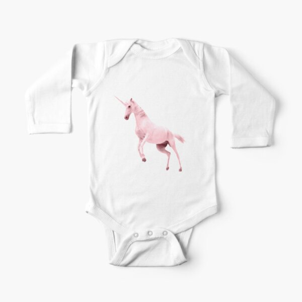 Pink Unicorn by Alice Monber Long Sleeve Baby One-Piece