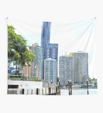 Brisbane River and city walk Wall Tapestry