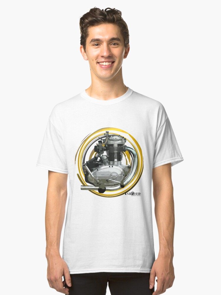 Inished B.S.A. C15, 250cc Engine art Classic T-Shirt Front