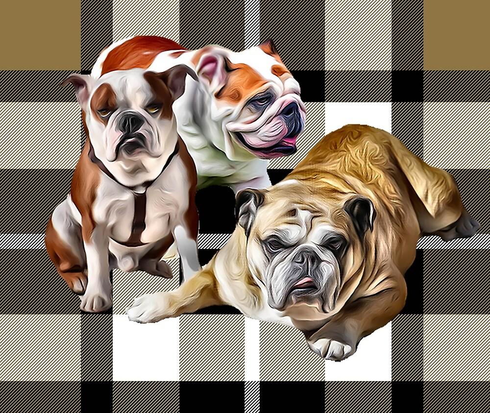 Plaid Bulldogs by IowaArtist