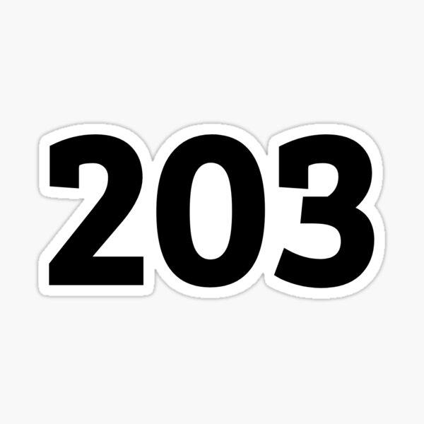 203 Sticker