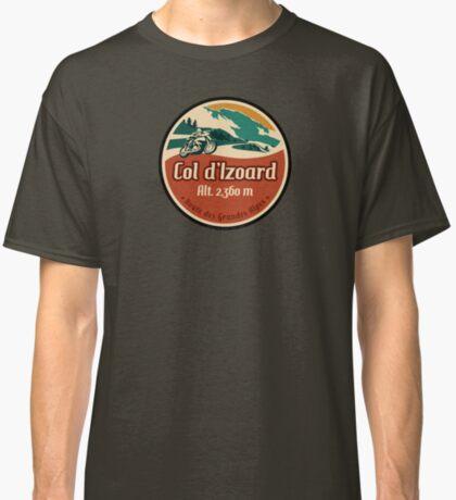 Route des Grandes Alpes France Motorcycle T-Shirt Sticker - Col d'Izoard 1 Classic T-Shirt