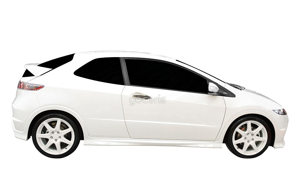 New fast white car isolated by goceris