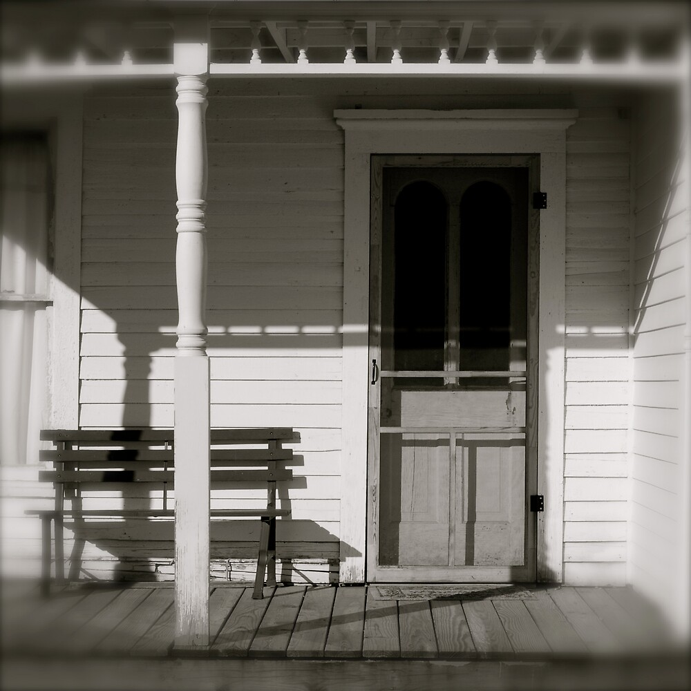 White House Front Porch by Robert Baker