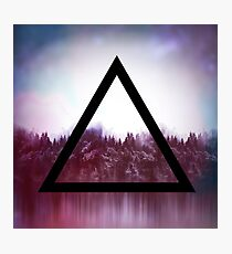 Triangle forest Photographic Print