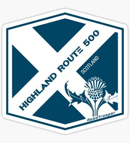 Scotland - Highland Route 500  T-Shirt Sticker Design 1 Sticker