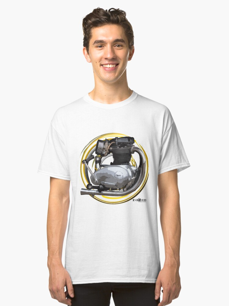 Inished B.S.A. Lightning, Spitfire 650cc, A65 Classic T-Shirt Front
