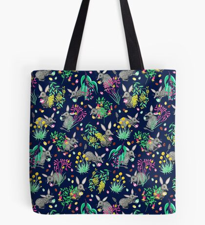 Australian Easter Bilby Egg Hunt - Navy Tote Bag