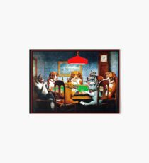 DOGS PLAYING POKER : Vintage C M Coolidge Print Art Board