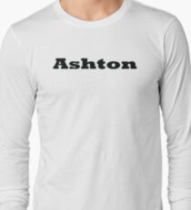 Name Ashton / Inspired by The Color of Money Long Sleeve T-Shirt