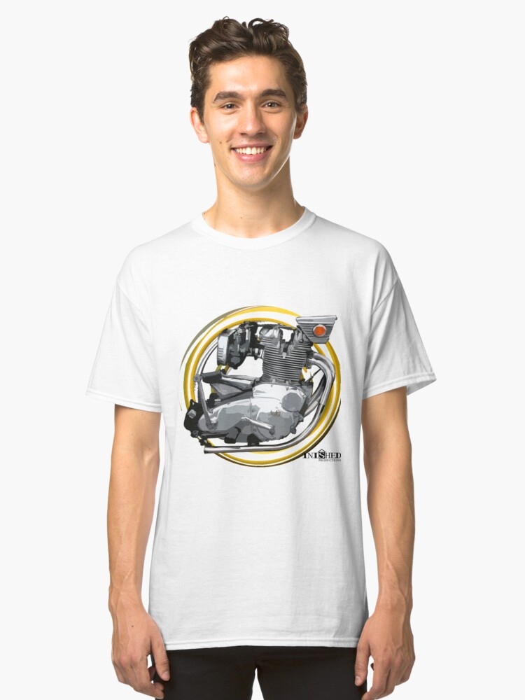 Inished B.S.A. Rocket 3 Engine art Classic T-Shirt Front