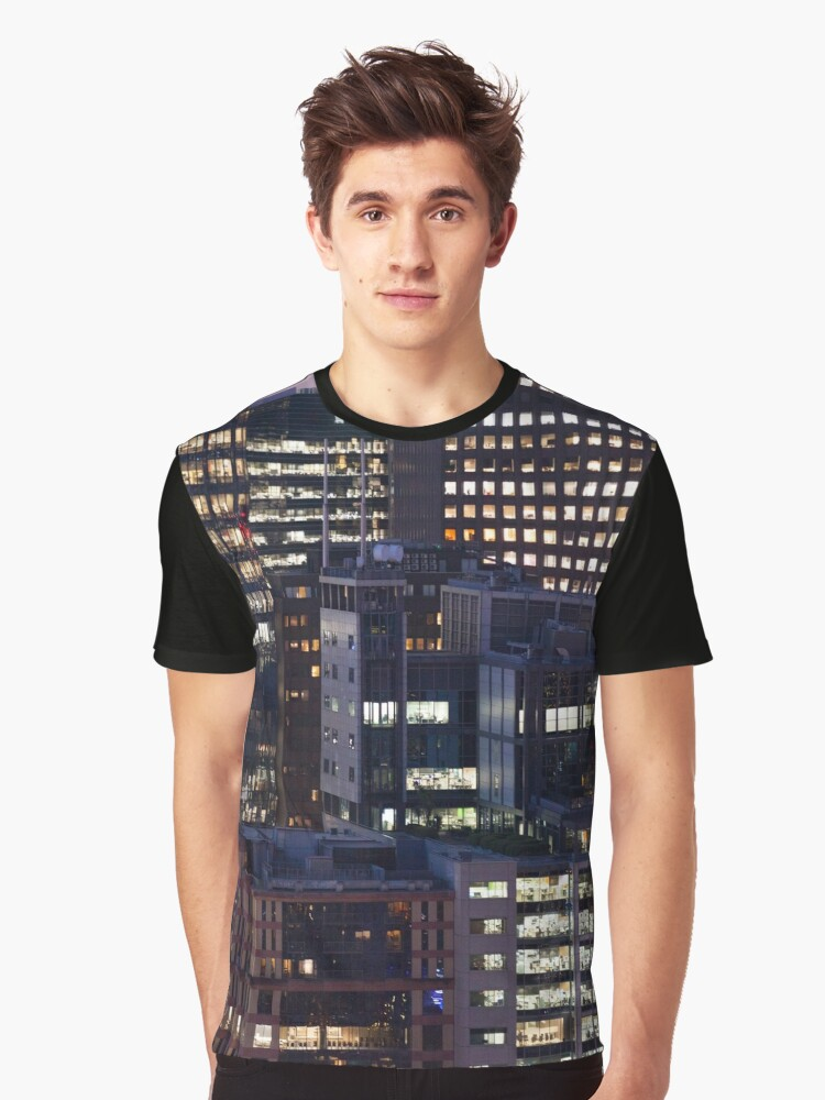 City Light City Night Graphic T-Shirt Front