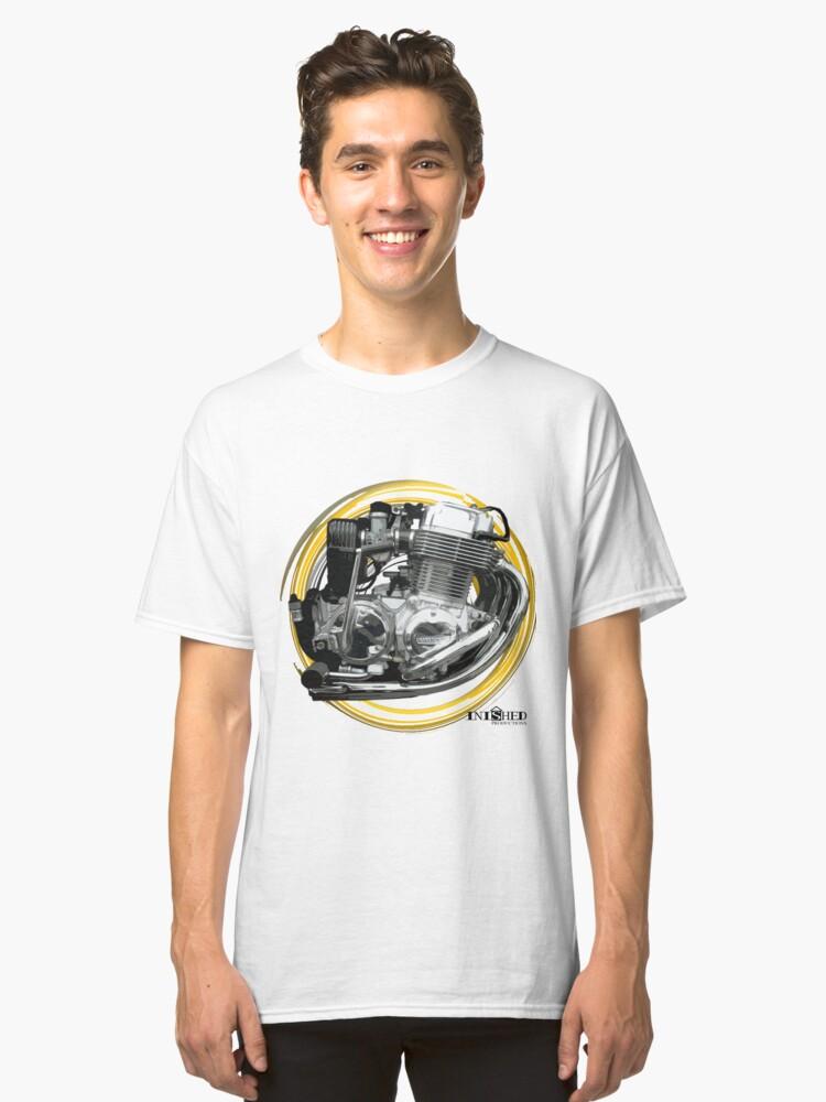 Inished Honda CB750F Engine art Classic T-Shirt Front