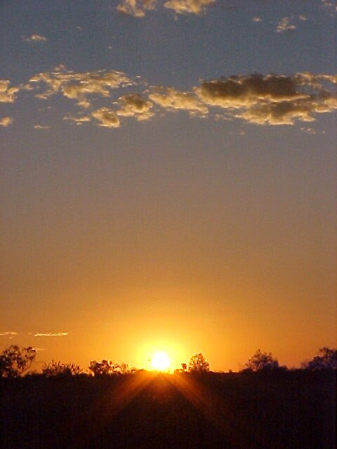 Sunset over the Warrego Highway by Nielsy