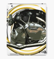 Inished classic Vincent motorcycle engine art iPad Case/Skin