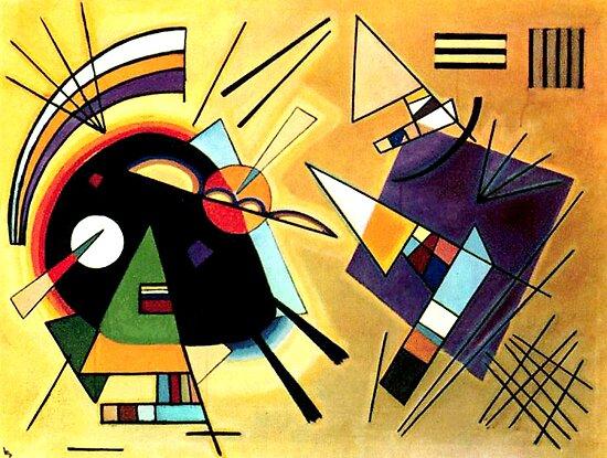 Vassily Kandinsky Black and Violet 1923 by Gouldo