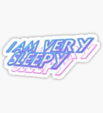 vapor sleepy Sticker