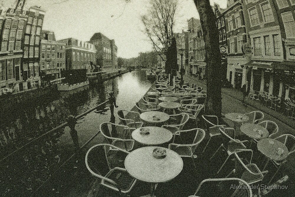 Cafe at the Canal. Amsterdam by Alexander Stepanov