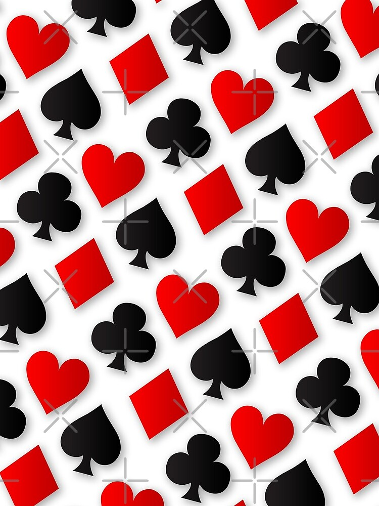 Playing Card Suits Collage by ThisOnAShirt