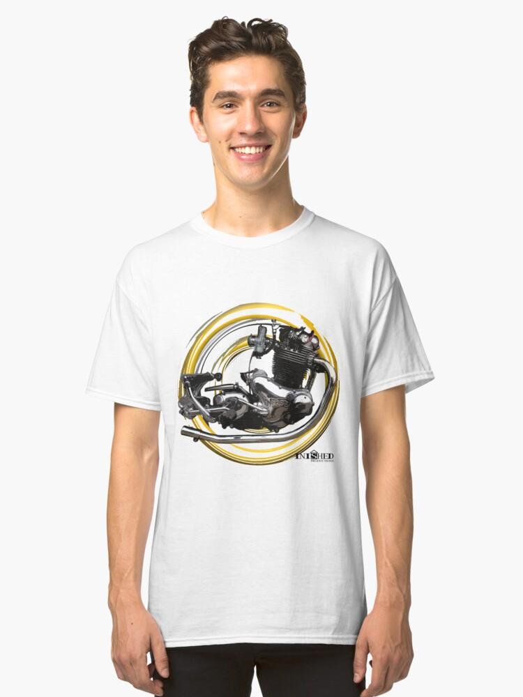 Inished Norton Commando classic engine art Classic T-Shirt Front