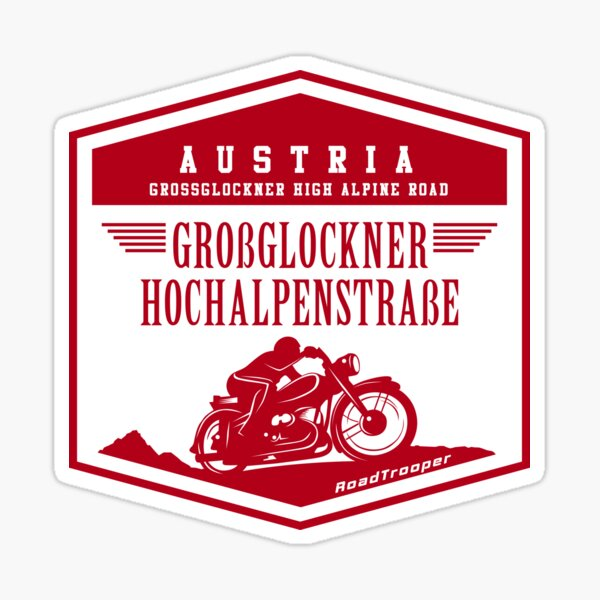 Austria - Grossglockner Pass Motorcycle T-Shirt + Sticker Design Sticker