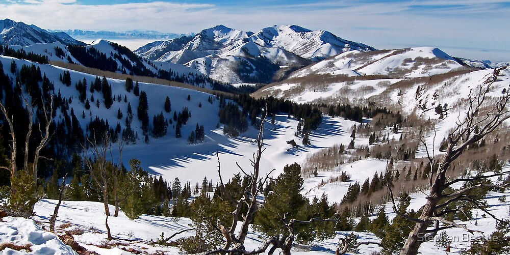 View from the Backside of 9990, The Canyons Resort by Stephen Beattie