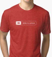 SLIDE TO UNLOCK Tri-blend T-Shirt