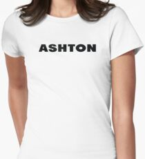 Name Ashton / Inspired by The Color of Money Women's Fitted T-Shirt