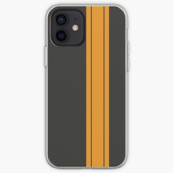 Black/Yellow Racing Stripe iPhone Soft Case