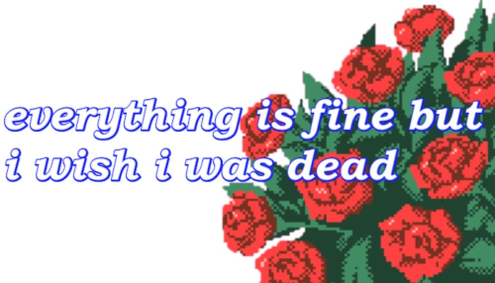 everything is fine but i wish i was dead by houndbabey