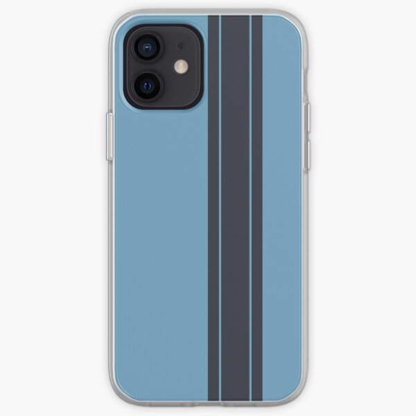 Light Blue/Navy Racing Stripe iPhone Soft Case