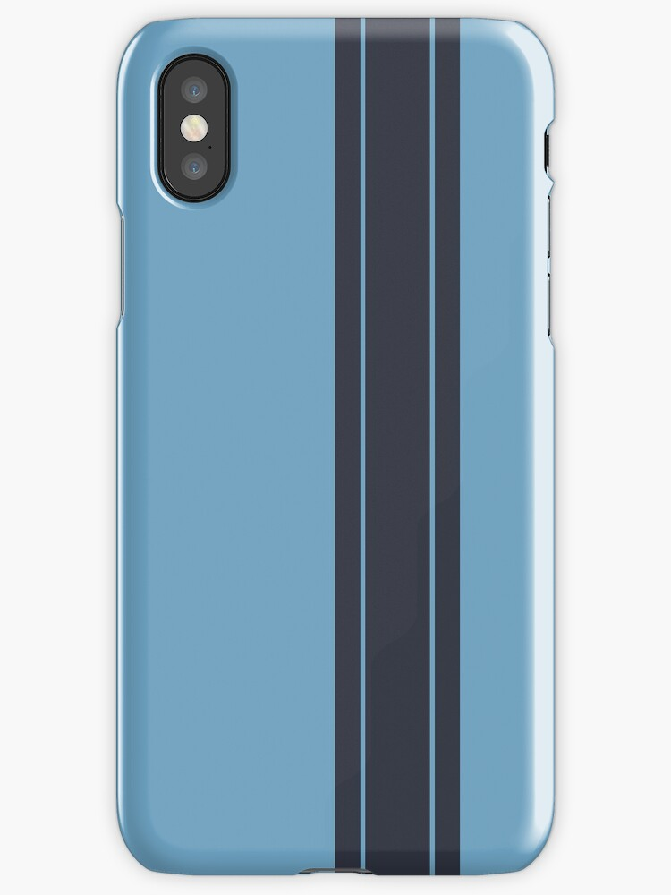 Light Blue/Navy Racing Stripe by sidebar