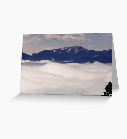 Walking Above The Clouds Greeting Card