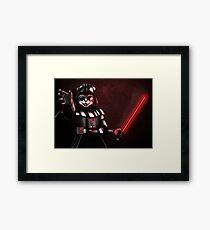 Black cat warrior Framed Print