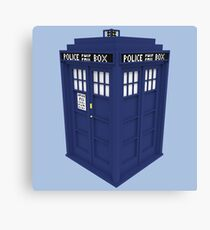 Pixel Doctor Who Tardis Canvas Print