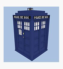 Pixel Doctor Who Tardis Photographic Print