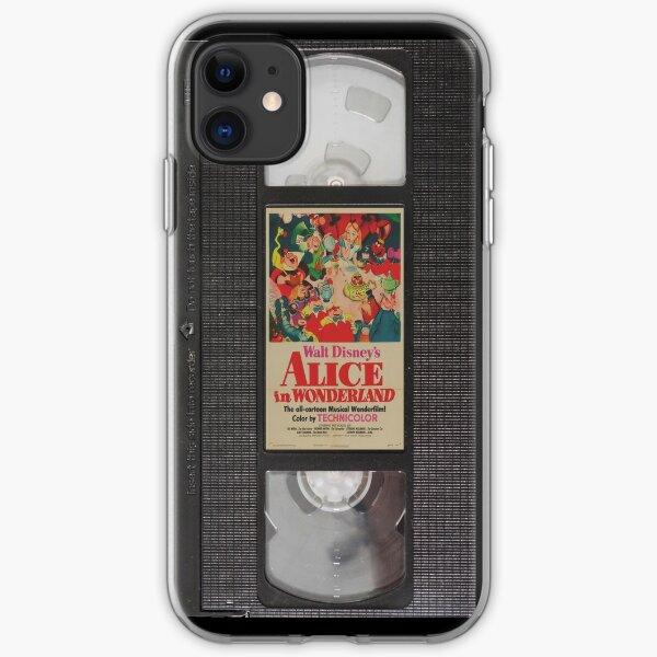 Alicia en el país de las maravillas VHS Funda blanda para iPhone